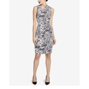 Rachel Roy Black Sleeveless Axel Leopard Dress